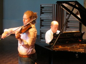 Rehearsing Elgar in the Rolston Hall @ The Banff Centre, Canada